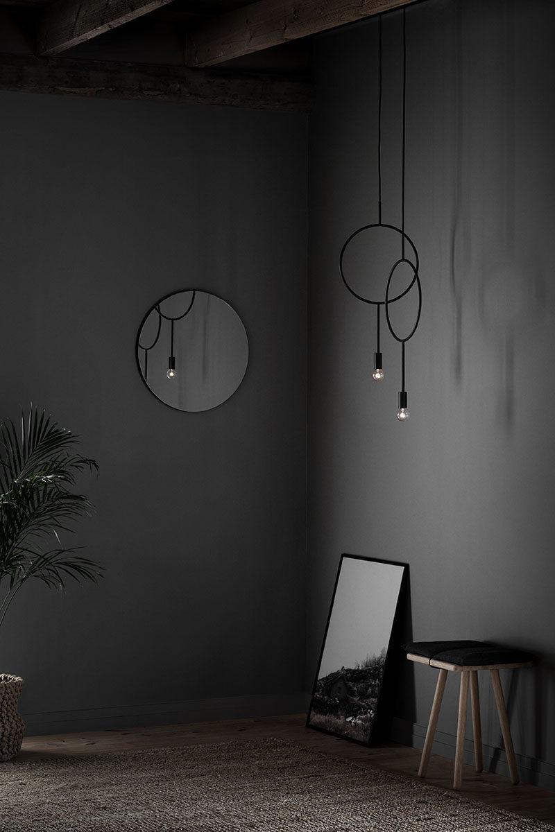 Designer Hannakaisa Pekkala has created Circle, a simple modern dark grey pendant light inspired by graphic lines.