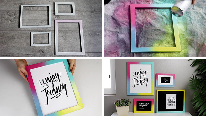 Brighten Up Your Decor With This Easy Diy For A Colorful Gradient