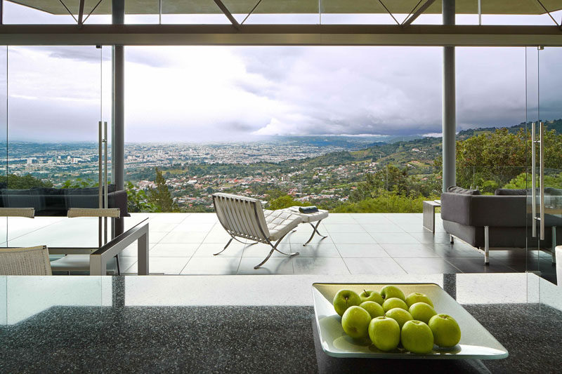 This entertaining room has an amazing unobstructed view from the kitchen.