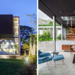 A Solid Block Hovers Above A Base Of Glass At This Home In Brazil