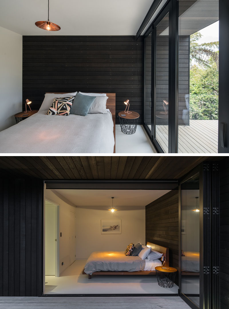 The Dark Wood Exterior Of This House Flows Through To The