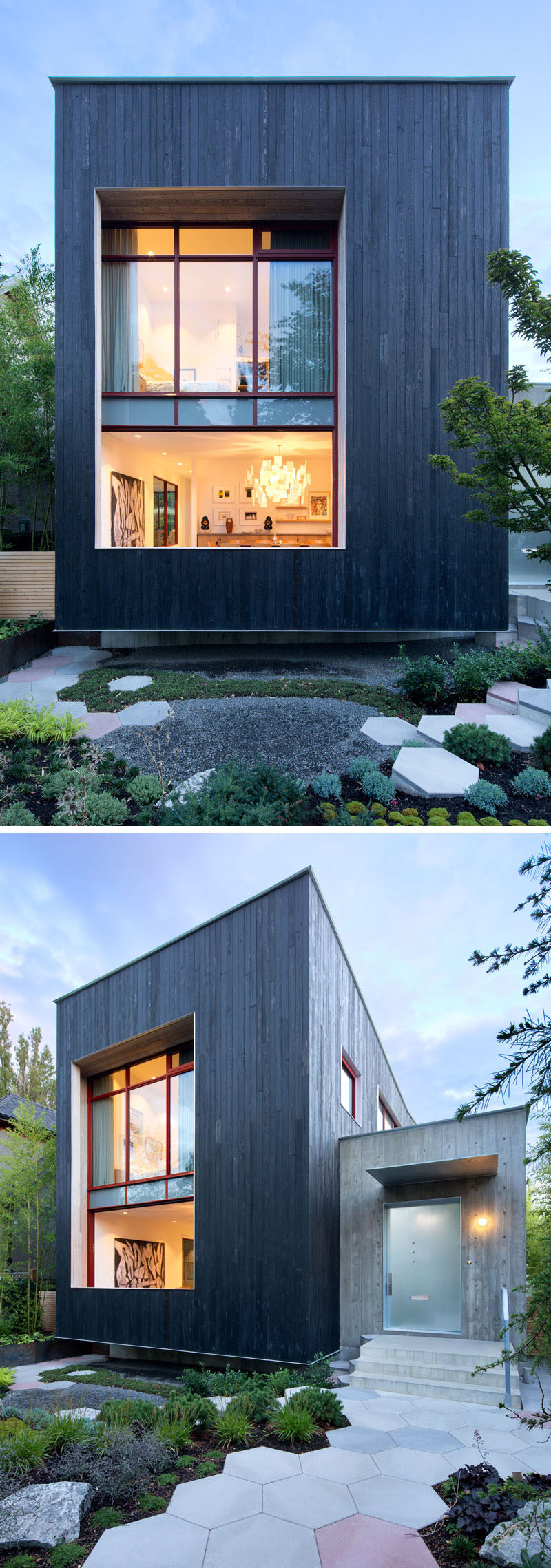 Carbonized Cypress Wood Covers The Exterior Of This New House In