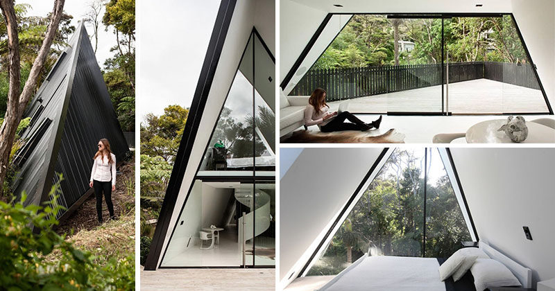 Architect Chris Tate has designed this simple tent-like cabin with a black exterior thatu0027s & A Tent Inspired House That Lives Among The Trees In New Zealand ...