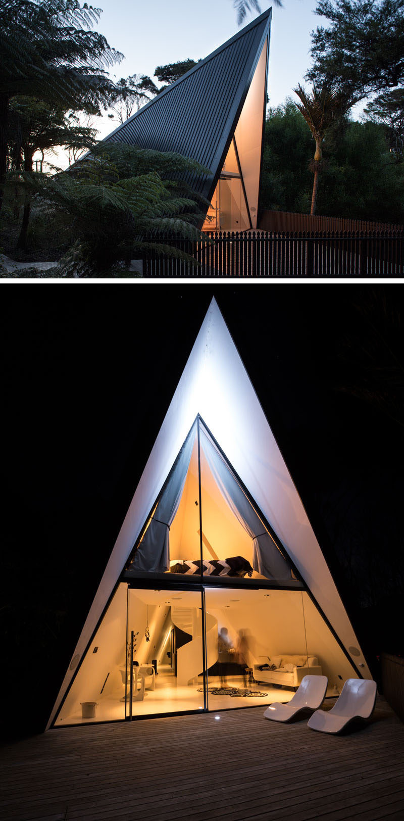 Architect Chris Tate has designed this simple tent-like cabin with a black exterior thatu0027s : tent like house - memphite.com