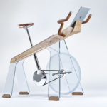 Freeride Is An Exercise Bike Made From Glass, Wood, And Steel