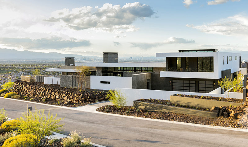 This large modern house in Nevada has views of Las Vegas.