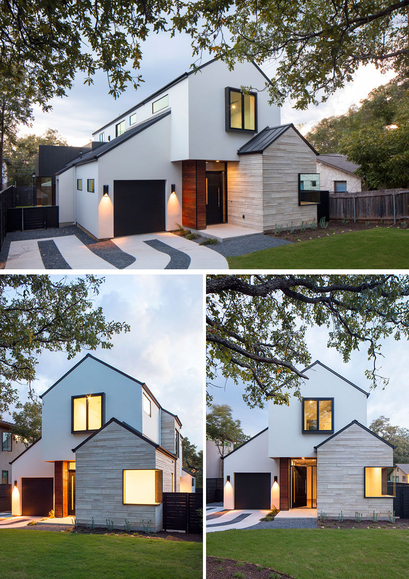 A Contemporary House With Peaked Roofs Arrives On This ...