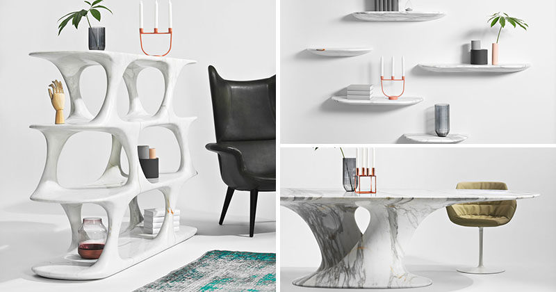 Rainer Mutsch Has Designed A Furniture Collection From Milled Marble