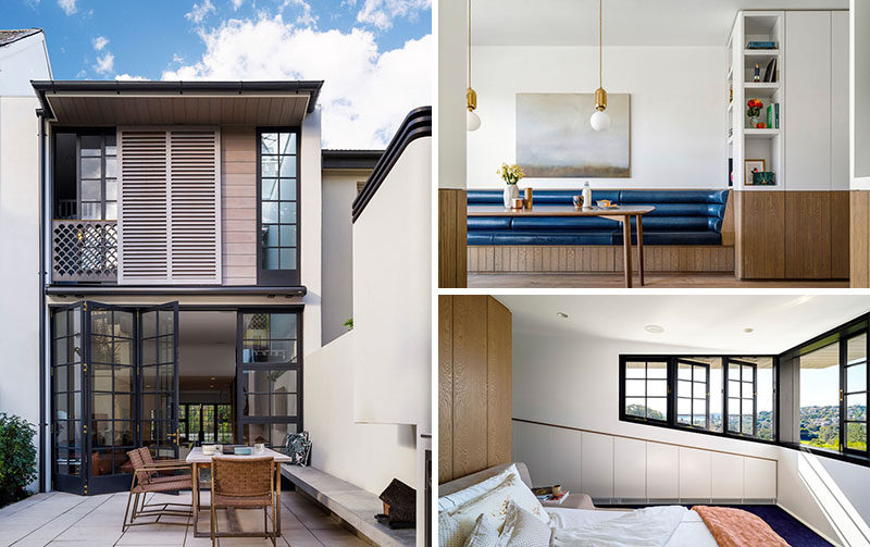 Luigi Rosselli Architects have recently completed the renovation of a 1950s two-storey row house in Sydney, Australia, for a film director and his young family.