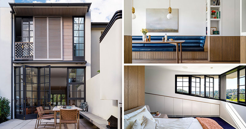 The contemporary redesign of a 1950s house in sydney - Interior design ideas for row houses ...