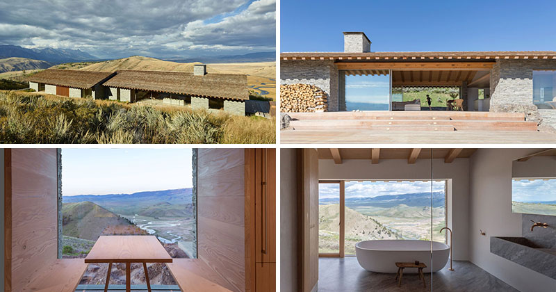 This Mountain House Was Designed To Be A Combination Of A European Chalet And An American Cabin