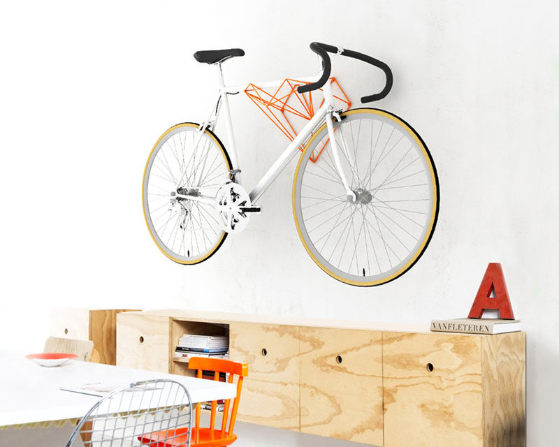 Hang Bike have created Heart, a new wall-mounted bike rack design in the shape of a heart, that that looks just as good by itself as well as when it's storing a bike.