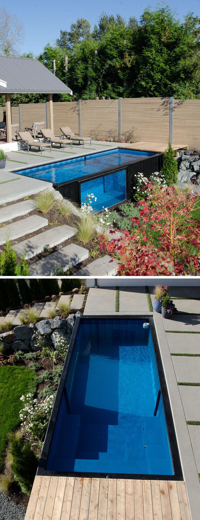A Swimming Pool Made From A Shipping Container? This House ...