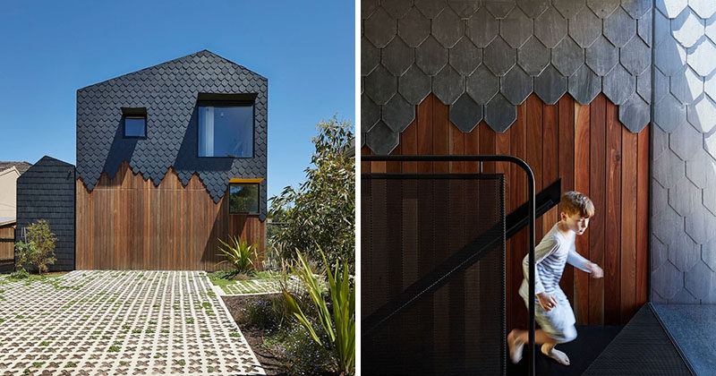 Enjoyable Dark Grey Slate Creatively Covers This Australian Home Download Free Architecture Designs Viewormadebymaigaardcom