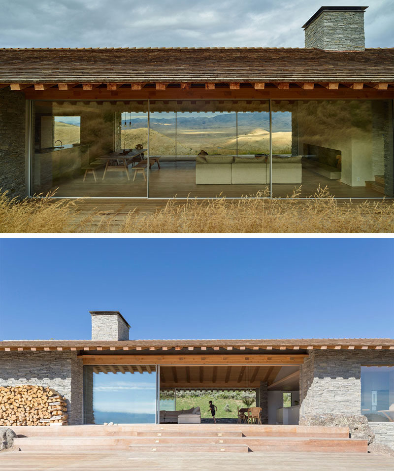 This Mountain House Was Designed To Be A Combination Of A