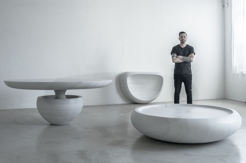 Designer Fernando Mastrangelo Has Created A Carved Concrete Furniture  Collection Named Ghost, That Consists Of