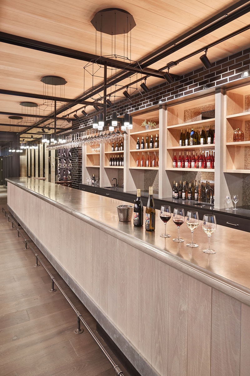 The Design Of This New Wine Tasting Room Includes A 40
