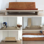 Learn How To Create Your Own DIY Modern Wood Couch With Leather Cushions