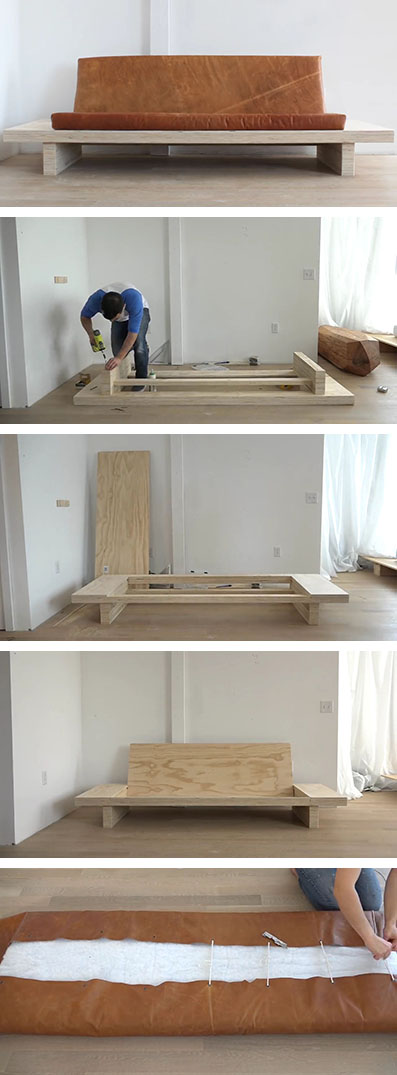 Learn how to create your own diy modern wood couch with - Easy to move couch ...