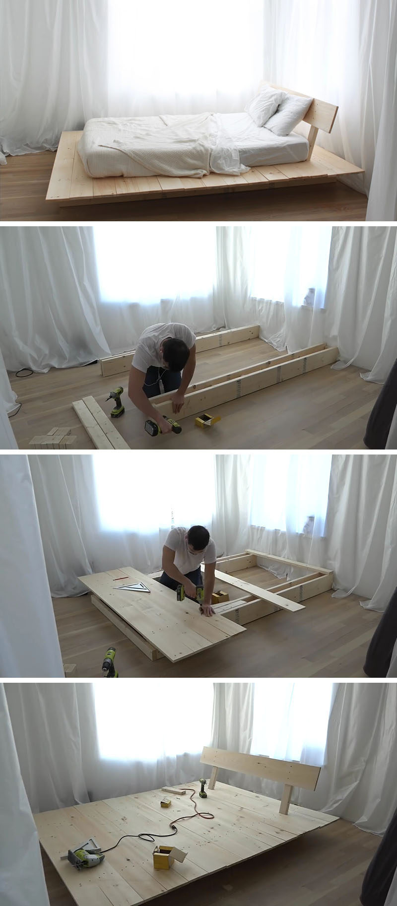Make This Diy Modern Wood Platform Bed Contemporist
