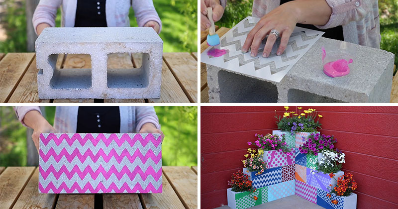 Make This Easy, Colorful, Modern Outdoor DIY Planter Using ...