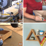 Make These Inexpensive But Modern DIY Wood Triangle Wall Shelves
