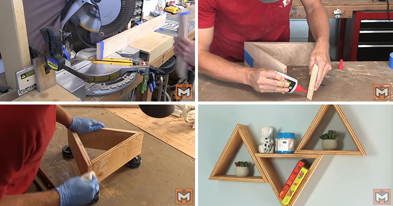 Make These Inexpensive But Modern DIY Wood Triangle Wall ...