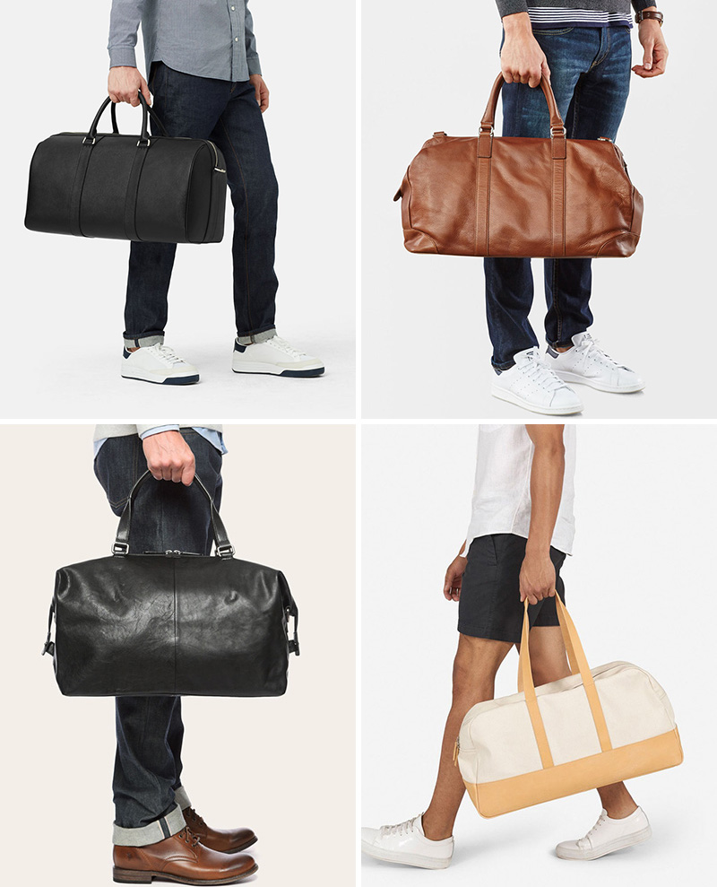 1c6fa2c86 Get the contemporist daily email newsletter – sign up here. These modern  leather and canvas duffel bags ...