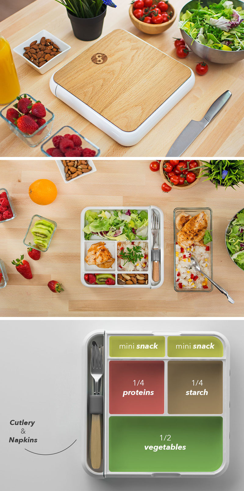 Alan, a designer based New York, has created and launched Fittbo. Sleek in design, the Fittbo is a functional modern lunchbox that helps you eat healthy meals with ease.