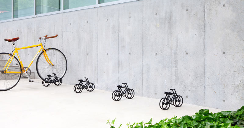Designer Yuma Kano has created a fun and quirky bike stand that's in the shape of a bicycle.