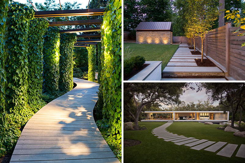 14 modern walkways and paths that are creative and for Landscape design usa