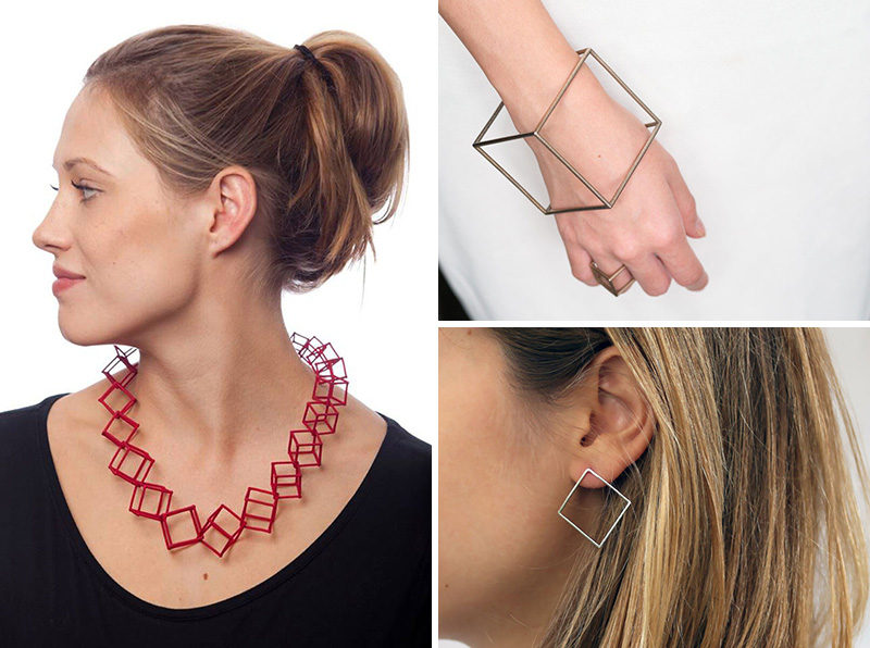 Wearing geometric jewelry is a fun way to show off your personality and your creativity. Here are 11 pieces of geometric jewelry to be worn on your neck, wrist, fingers, and ears that will add modern crisp lines to your look. #ModernJewelry #Fashion #Style