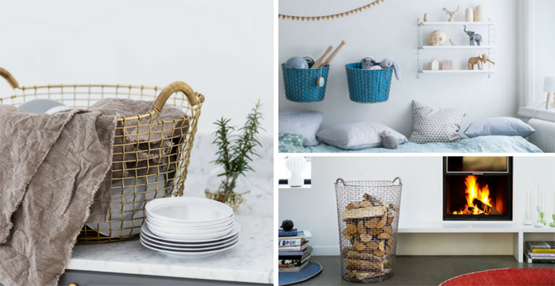Woven by hand using single wires, these modern wire baskets are made individually ensuring the highest quality.