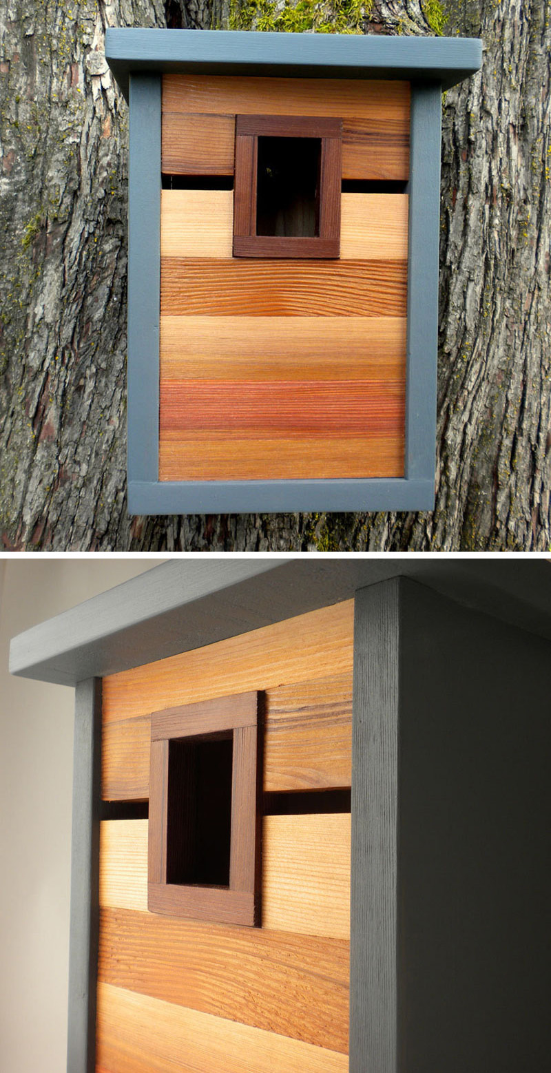 These Modern Wood Birdhouses Are Inspired By Craftsman ...