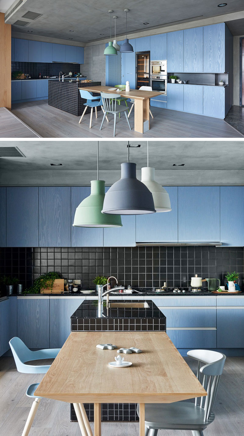 Kitchen Color Inspiration - 12 Shades Of Blue Cabinets | CONTEMPORIST