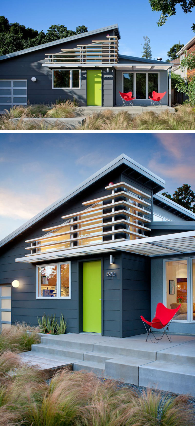 7 Examples Of Colorful Doors That Brighten Up These Modern Homes ...