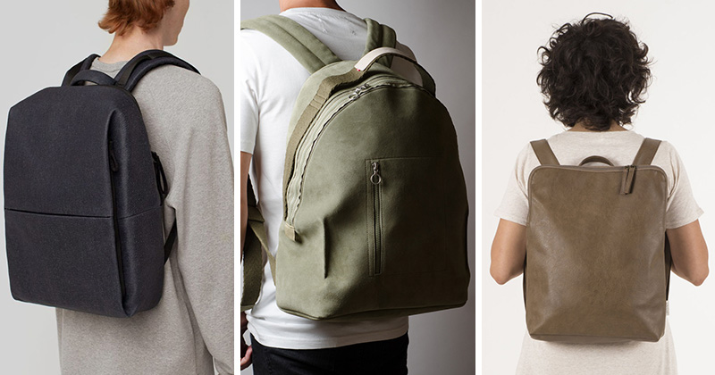 These modern backpacks are versatile and fashionable.