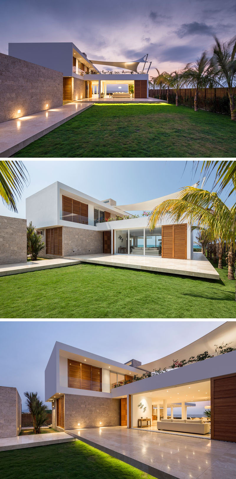 This Modern Beach House Has A Stone Walkway That Brings You To The Front Of