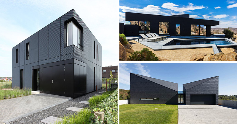 Unique Stand Designs : Examples of modern houses with black exteriors