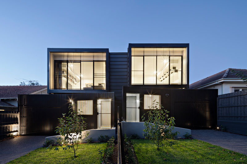 Chan architecture have designed a couple of townhouses in for Modern townhouse plans