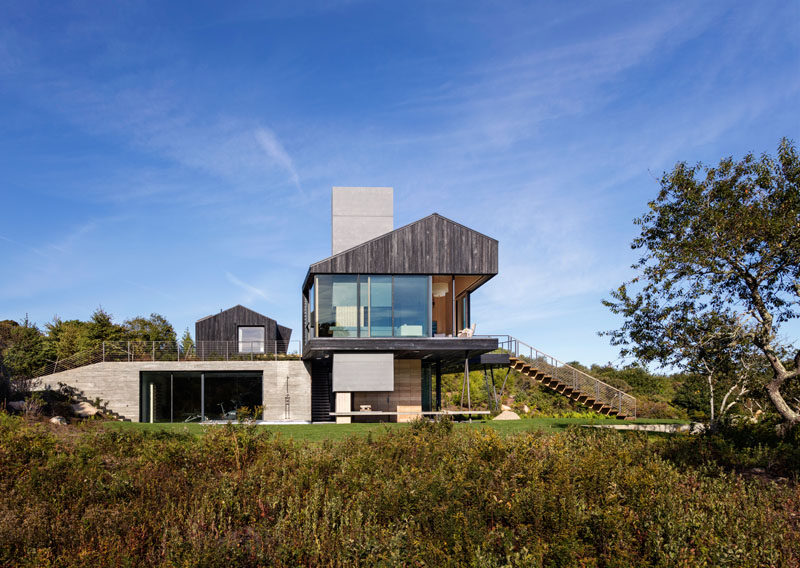 Architecture & design firm Schiller Projects have collaborated with Gray Organschi Architecture to design this recently completed modern house, located in Martha's Vineyard, Massachusetts.