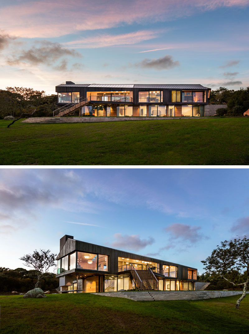 Architecture & design firm Schiller Projects have collaborated with Gray Organschi Architecture to design the recently completed Chilmark House, located in Martha's Vineyard, Massachusetts.