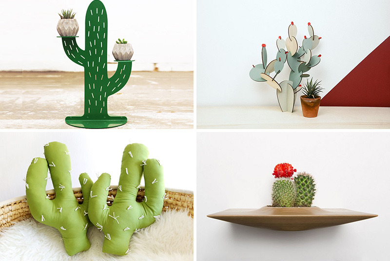 These modern cactus lamps, planters, and ornaments bring desert-inspired decor to your house.