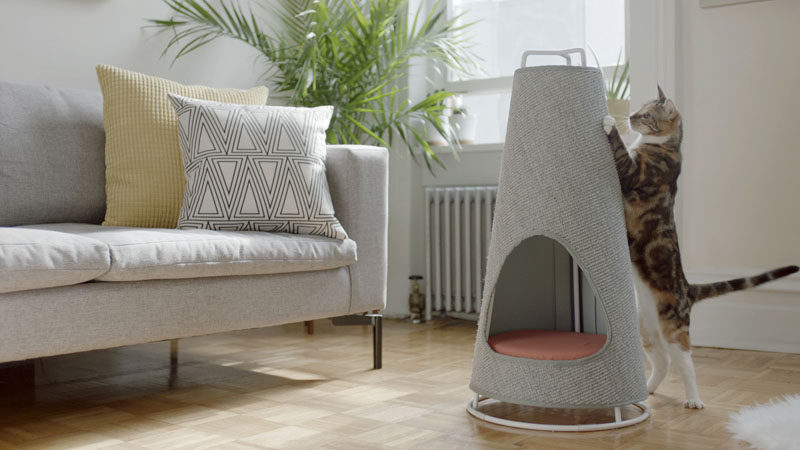 Evan Ryan Of Wiski Has Created The Cone A Modern Cat Bed That Doubles As
