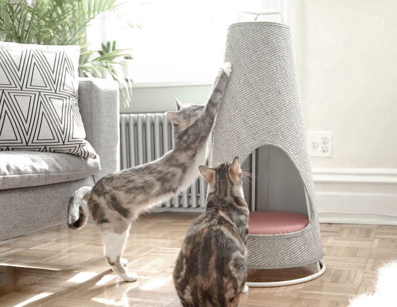 Evan Ryan Of WISKI Has Created The Cone, A Modern Cat Bed That Doubles As
