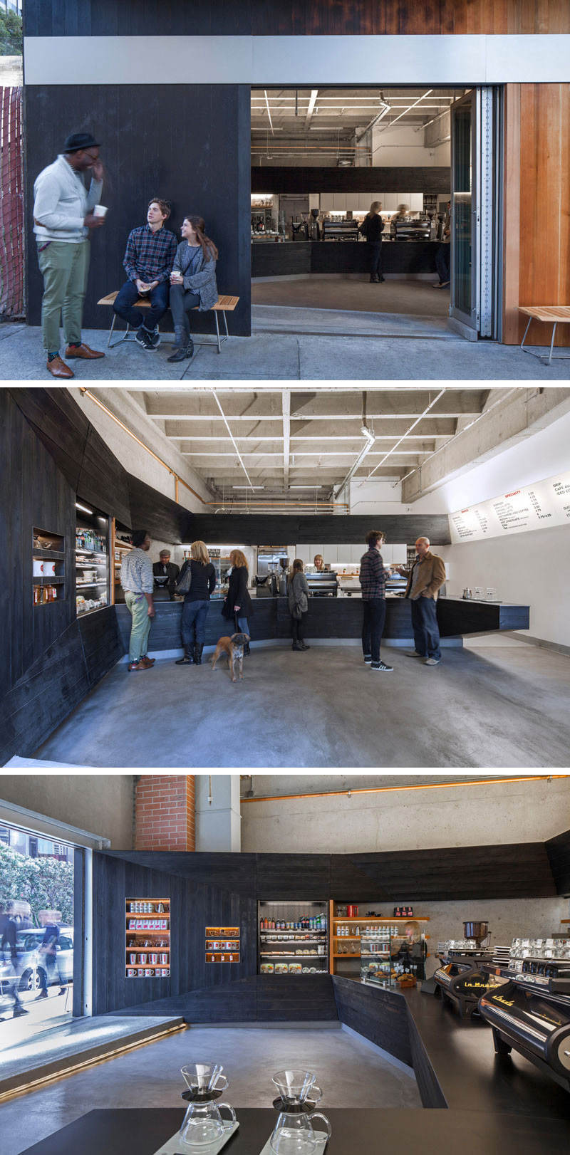 jones | haydu designed the Coffee Bar, a cafe in the Financial District of San Francisco with a modern, unique vibe that brought life into a space that had been empty for over twenty years.
