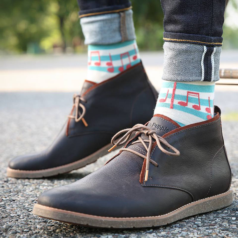 These fun modern colored musical socks are sure to put an extra bit of pep in your step.