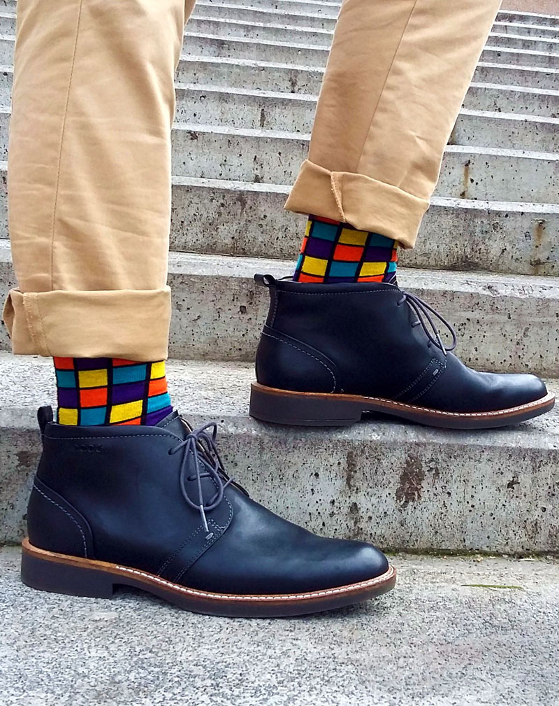 These Rubik's cube inspired socks are nice and bright making an outfit extra funky and modern.