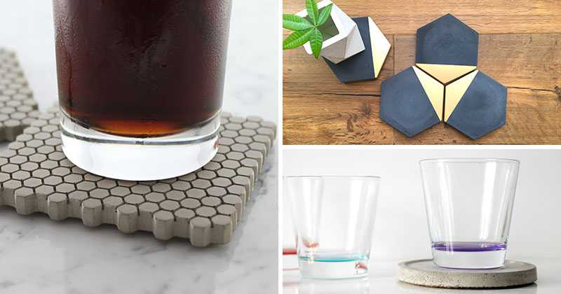 These modern coasters of different sizes, shapes, and colors, protect the table surfaces in your house.