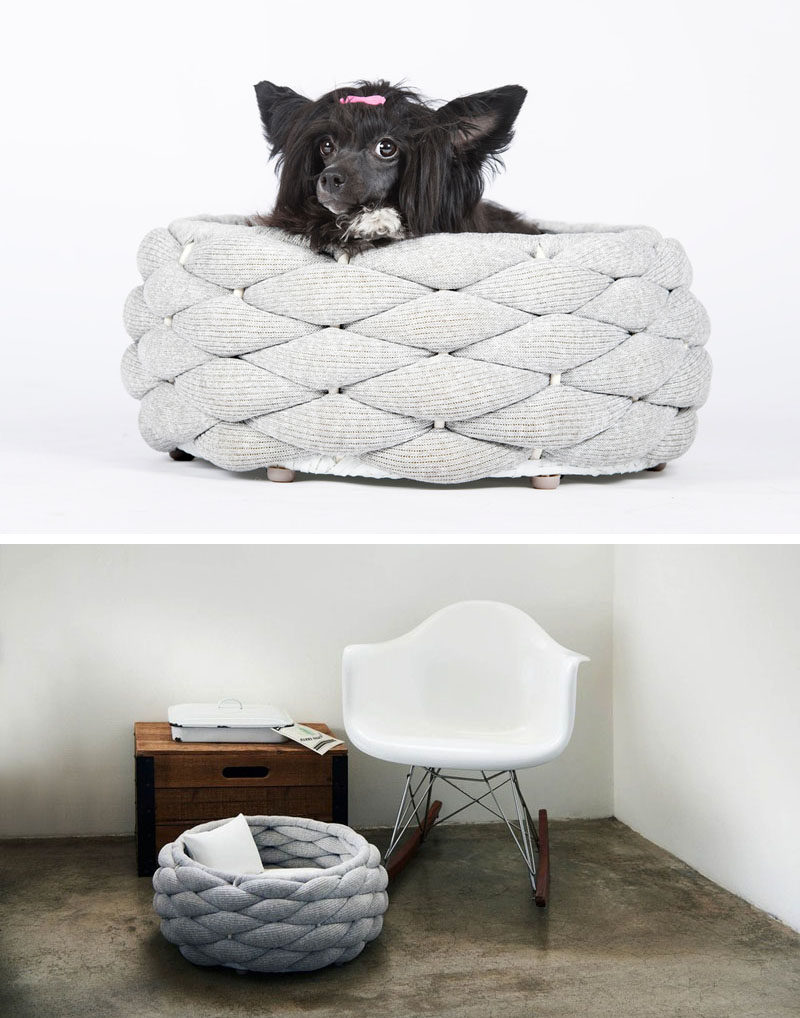 modern pet bed modern dog beds and accessories from howlpot dog  - these woven pet beds give your fur friends a secure place to sleep